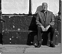 Pensioner on Bench debsbyrnephotos